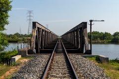 铁路在Kampot,柬埔寨2015年10月 免版税库存图片