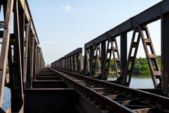 铁路在Kampot,柬埔寨2015年10月 库存图片