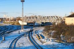 铁路基础设施 免版税图库摄影