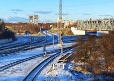 铁路基础设施 免版税库存图片