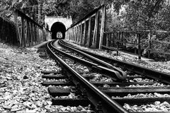 铁路基础设施 免版税库存照片