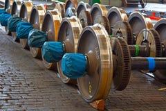 铁路备用轮胎 免版税库存图片