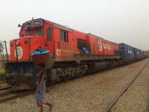 铁路局的发展在彻特D ` IVOIRE 库存照片