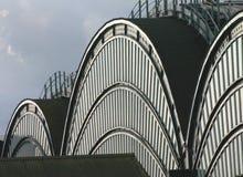 铁路屋顶岗位 免版税库存照片