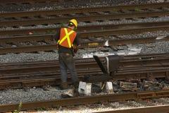 铁路工作者 库存图片