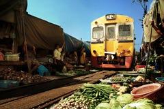 铁路市场 免版税库存照片