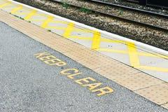 铁路平台 免版税库存图片