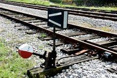 铁路开关 免版税图库摄影