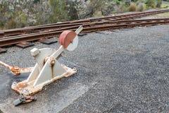 铁路开关 库存图片