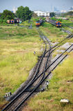铁路或铁路在泰国 免版税库存图片