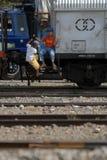 铁路拓展计划 免版税库存照片