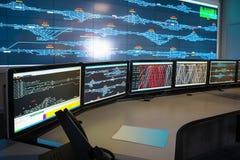 铁路控制室  免版税库存照片