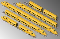 铁路旅客列车 向量例证