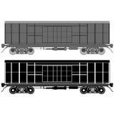 铁路无盖货车1 库存图片