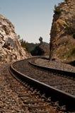 铁路晃动跟踪 库存照片