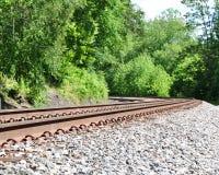 铁路曲线 免版税图库摄影