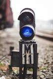 铁路标志 免版税库存图片