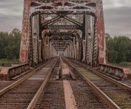 铁路桥在波特兰或 图库摄影