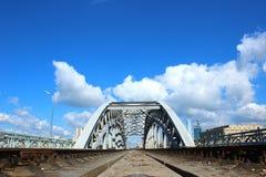 铁路桥在莫斯科 库存照片