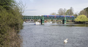 铁路桥在Bourne末端 库存照片