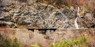 铁路桥梁横穿 免版税库存照片