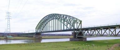 铁路桥梁 图库摄影