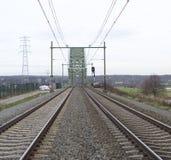 铁路桥梁 免版税库存图片