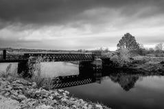 铁路桥阿德尔 库存照片