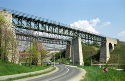 铁路桥, Biatorbagy,匈牙利 库存图片