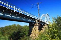 铁路桥 免版税图库摄影