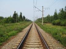 铁路火车轨道风景背景 免版税库存图片