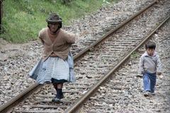铁路生活 库存照片