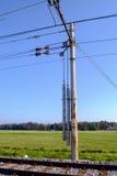 铁路电线 库存图片