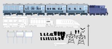 铁路的图标 免版税库存照片