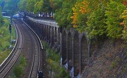 铁路的种族分界线 免版税库存图片