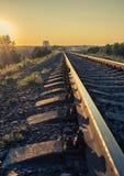 铁路秋天 库存图片