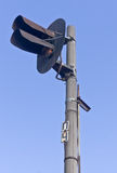 铁路红绿灯 库存图片