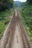 铁路线在吉隆坡 免版税库存图片