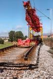 铁路线的重建 库存照片