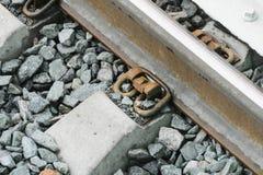 铁路线莫斯科中央铁路的建筑 库存图片