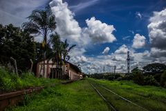 铁路线 库存照片