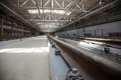 铁路维护和工厂 图库摄影