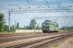 铁路老机车 免版税图库摄影