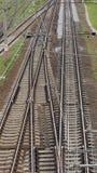 铁路联轨点 免版税库存图片