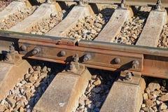 铁路螺栓看法  免版税库存照片