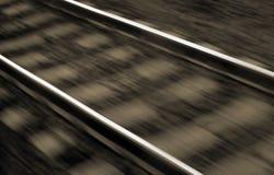 铁路被弄脏的线路 免版税库存图片