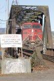 铁路警告标志 免版税图库摄影