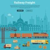 铁路货物交付和后勤学 库存照片