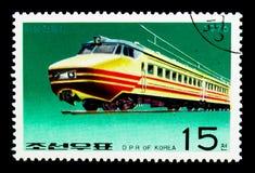 铁路车,机车serie,大约1976年 免版税库存图片