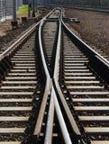 铁路轨道两条线  图库摄影